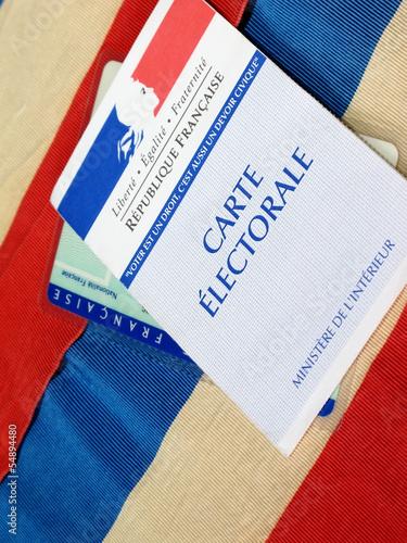 carte électorale,droit de vote,drapeau français
