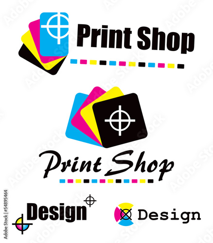 Set of CMYK designs