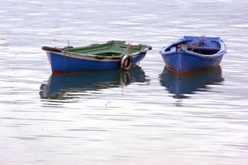 two boats on water