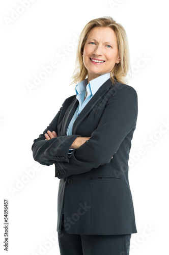 Portrait Of Happy Senior Businesswoman