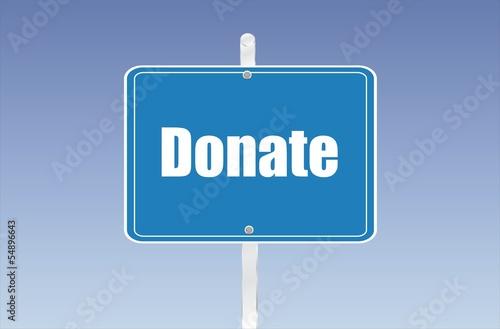 panneau donate