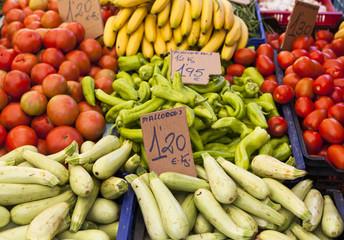 Gemüse auf Marktstand