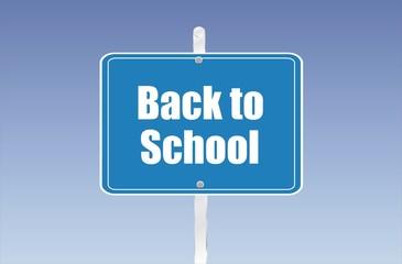 panneau back to school