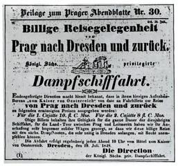 """SDG advertisment in """"Prager Abendblatt"""" (1848)"""