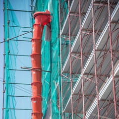 scaffolding for the maintenance of a building