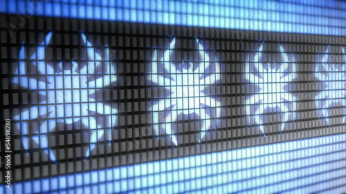 Virus icon on screen. Looping.