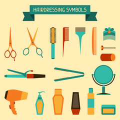 Hairdressing symbols.
