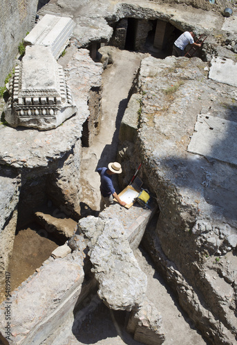 archaeologists working on excavations in Rome