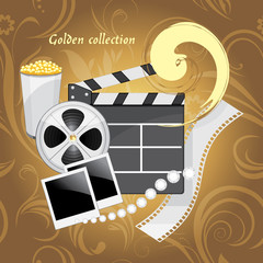 Film industry objects. Golden collection