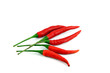 Red paprika on white background.