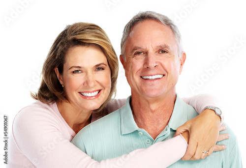 Happy senior couple in love.