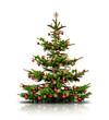 Weihnachtsbaum mit brennenden Kerzen