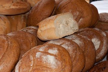 Hogazas de pan casero