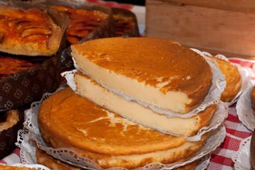Postre de quesadilla típico del País Vasco