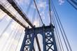 Details of Manhattan Bridge, New York