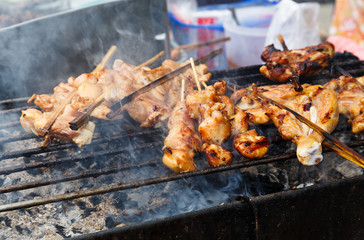 Traditional Thai style grilled pork