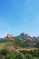 The Esterel Massif on Mediterranean sea, Provence, France