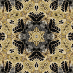 kaleidoscopic picture of feet