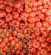 Collage of fresh tomatoes