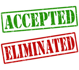 Accepted and eliminated stamps