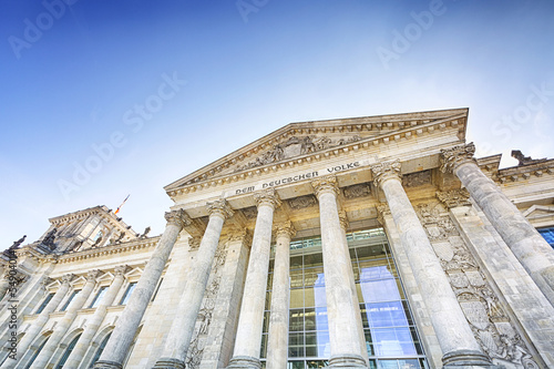 Main entrance and columns of the Reichstag