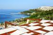 The beach at luxury hotel, Bodrum, Turkey