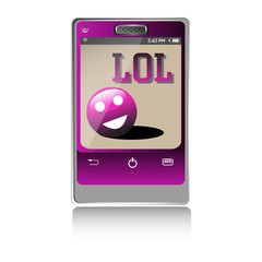 Lol message on a smartphone