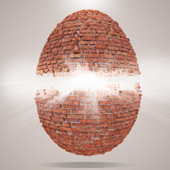 egg concept 3d background