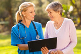 caregiver and senior patient