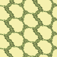 Seamless abstract snake pattern