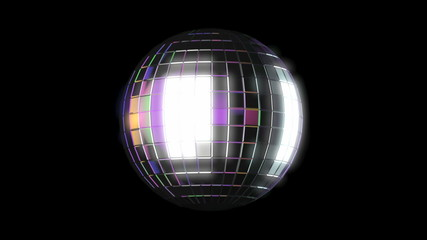 Disco ball, seamless loop