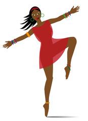 illustraazione di ragazza esotica che danza