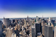 Wonderful aereal view of Manhattan Skyscrapers from helicopter