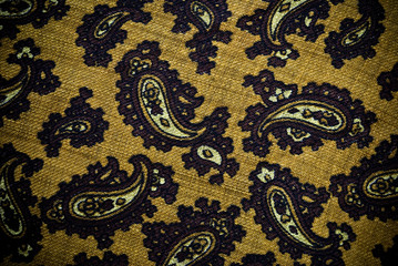 Turkish or Indian paisley material background or texture