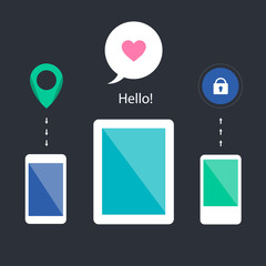 Mobile icons for user interface