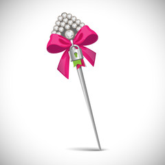Pin with bow