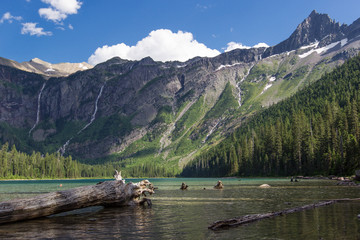 Avalanche Lake and Mountains