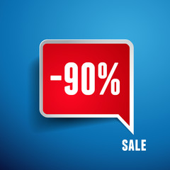 Sale percents label. Vector