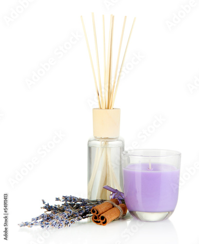 Aromatic sticks for home with smell of lavender and cinnamon