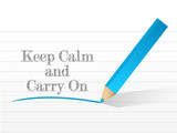 keep calm and carry on written poster