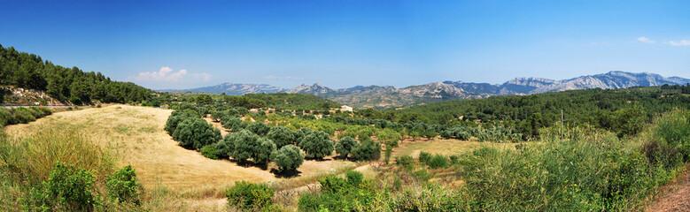 Paysage montagneux catalan espagnol