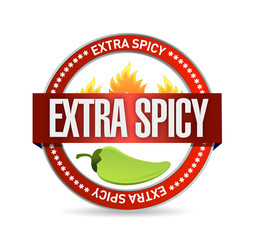 extra spicy seal illustration design