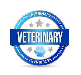 veterinary seal illustration design