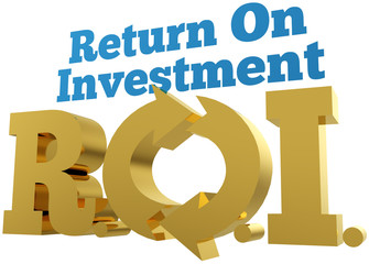 Big gold ROI Return On Investment words
