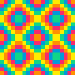 8-bit seamless rainbow diamond background tile