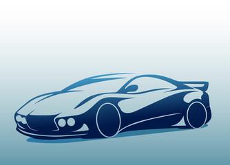 Sempatik bir spor otomobil ( mavi )