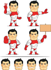 Superhero Customizable Mascot 7
