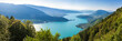 Panoramic view of the Annecy lake from Col du Forclaz   - 54914221