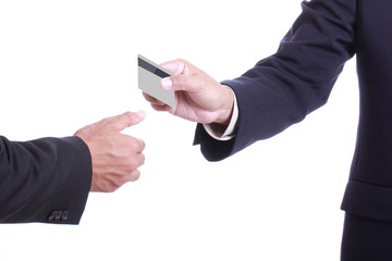 Close up Payment machine on during using Credit card