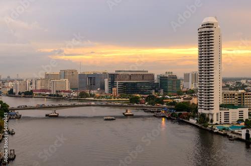 Fototapeten,bangkok,krankenhaus,fluß,brücke